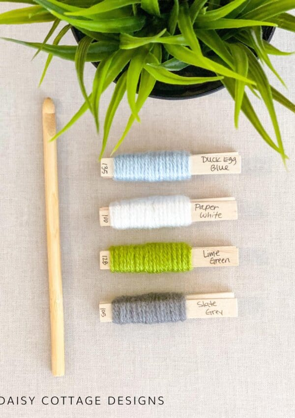 Crochet Color Palette: Green, Blue, & Gray