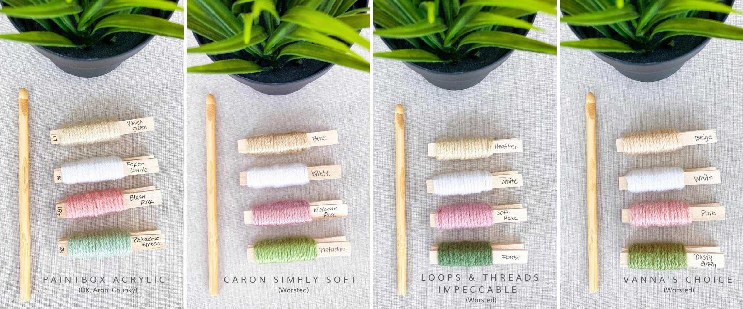 Blush and Sage Color Palette for Crochet Designs