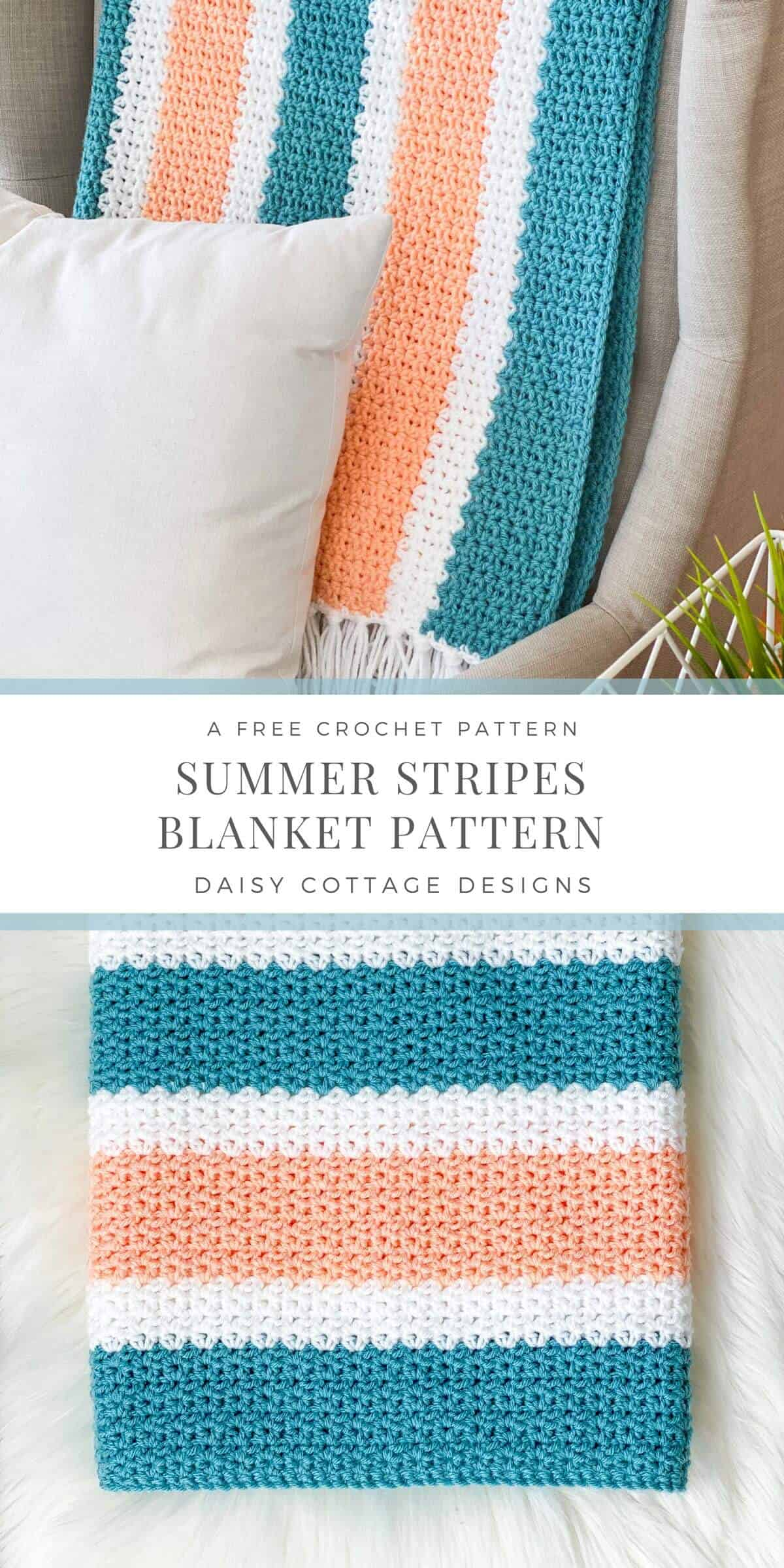 V Stitch Crochet at its finest! Learn how to create this gorgeous crochet blanket using use this quick and easy free crochet pattern.