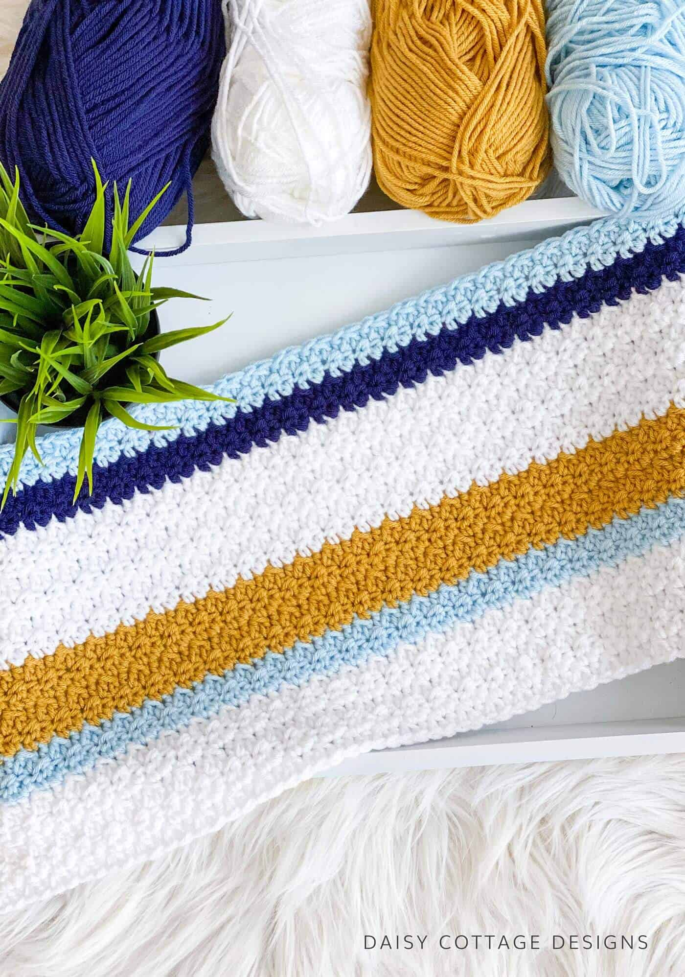 Modern Crochet Blanket Pattern Daisy Cottage Designs