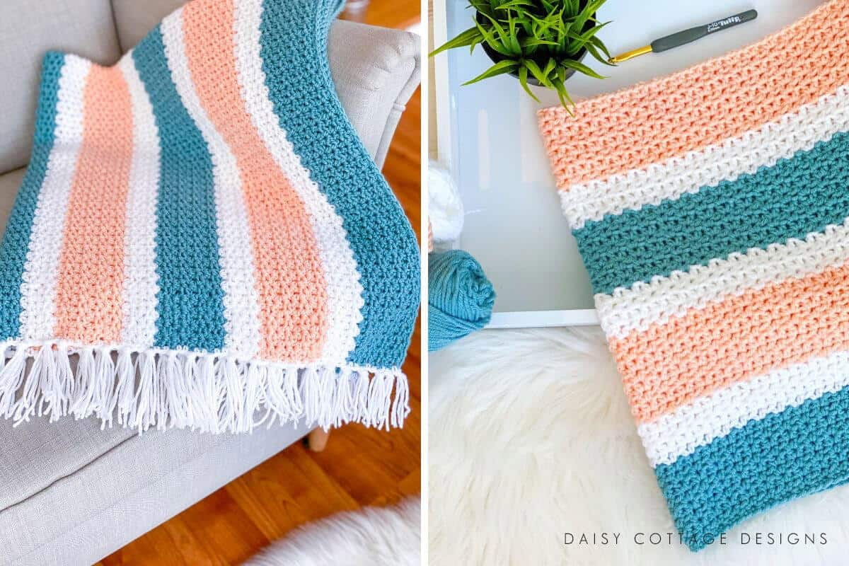 This beautiful half double crochet blanket pattern is one that you'll come back to over and over again. Use this gorgeous crochet stitch to create beautiful afghans.