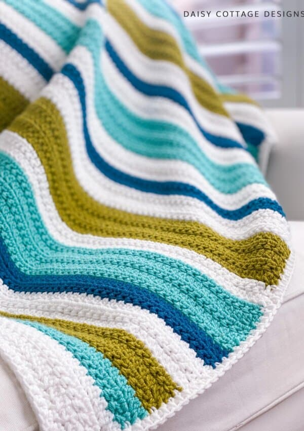 Textured Crochet Stitch Blanket: The Oceanside Throw