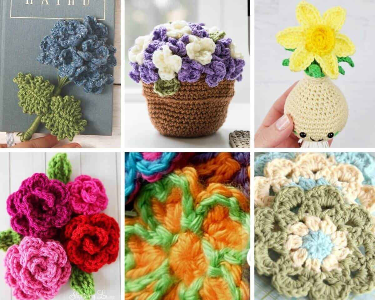 Pretty Free Flower Crochet Patterns