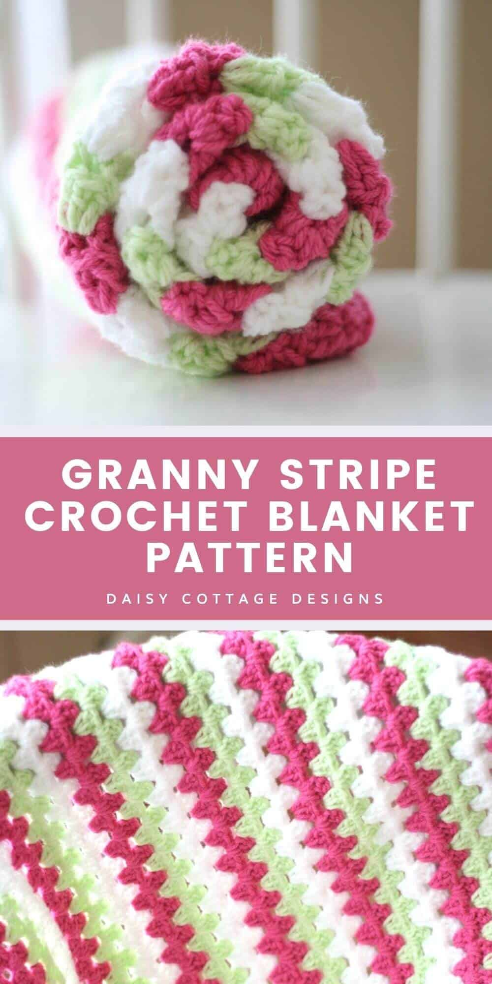 Mint and Pink granny square blanket
