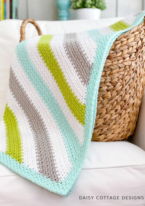 Moss Stitch Crochet C2C Tutorial