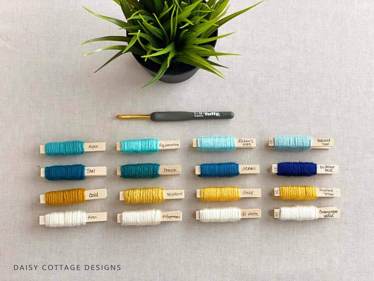 Yarn Pegs for Color Planning
