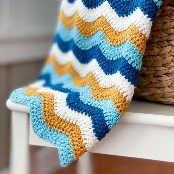 How to Make a Wavy Crochet Blanket
