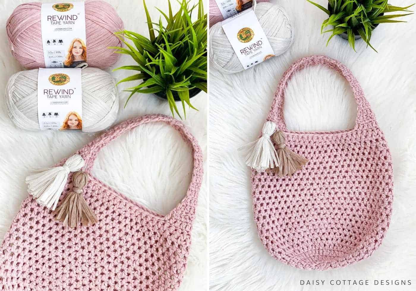 Make A Free Crochet Tote Bag Pattern Daisy Cottage Designs