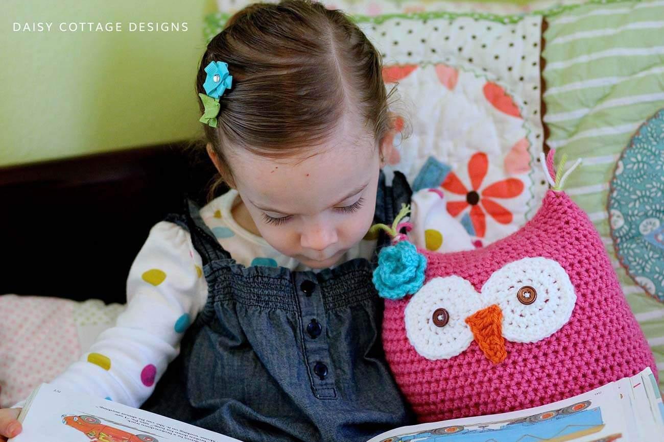 pink owl crochet pattern