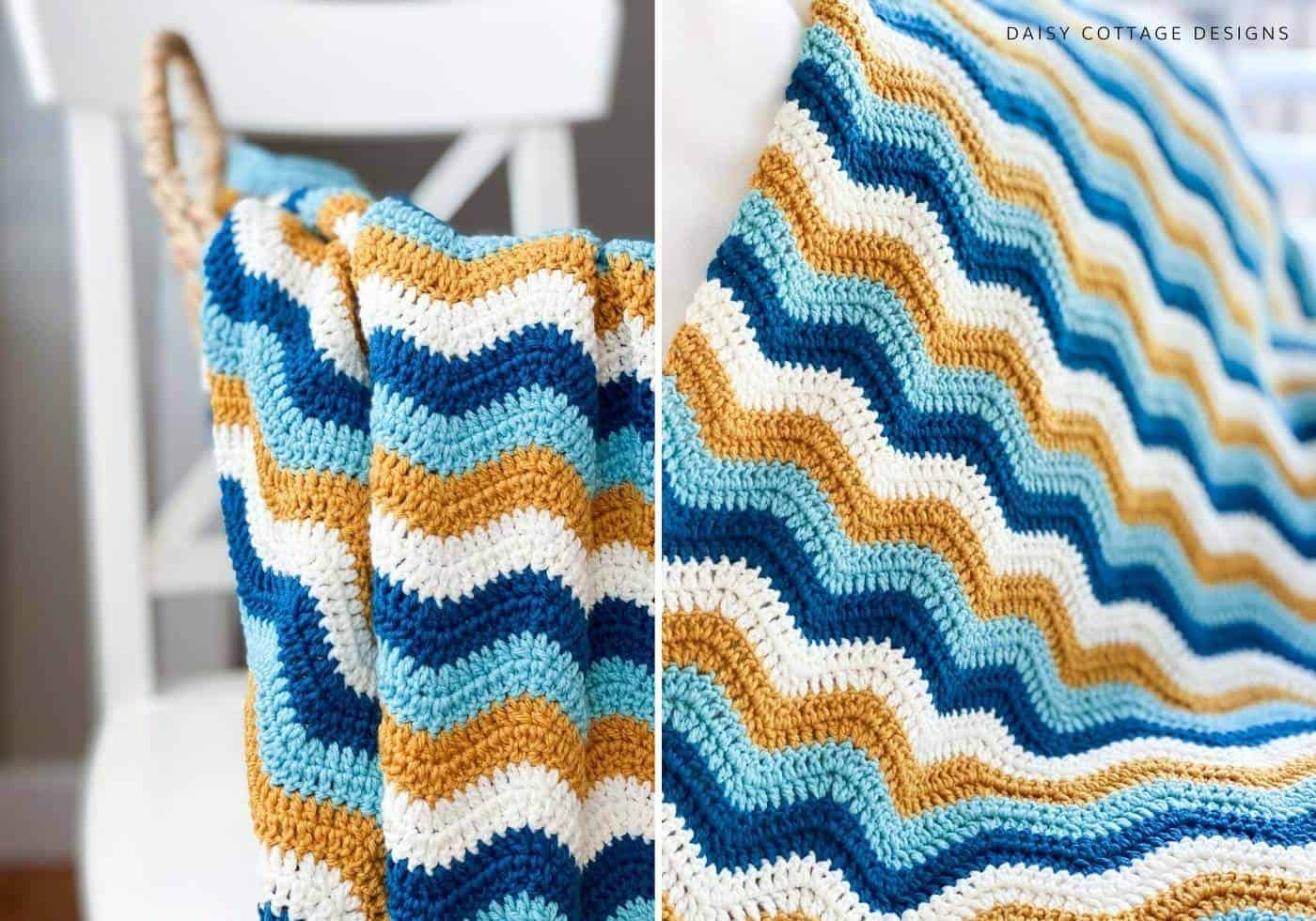 Wave Crochet Blanket Pattern